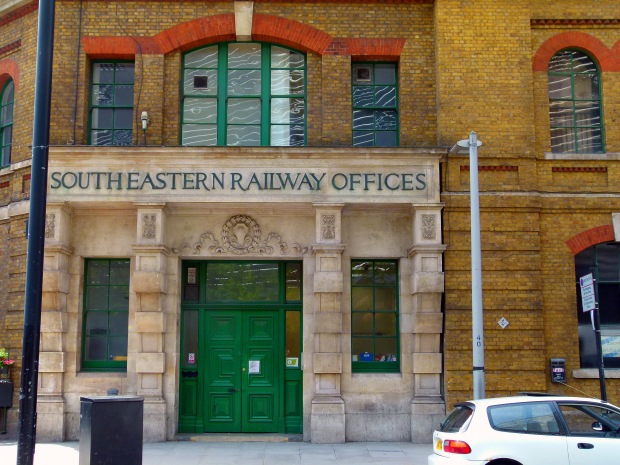 Old entrance to the former South Eastern Railway HQ.