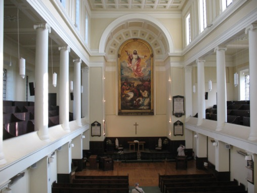 The interior of St James's Bermondsey (image: copyright Stephen Craven via Geograph).