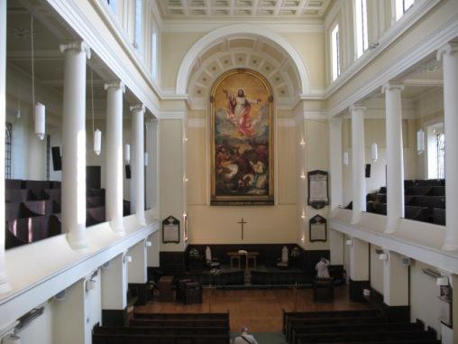 The interior of St James's Bermondsey (image: copyright Stephen Craven via Geograph).