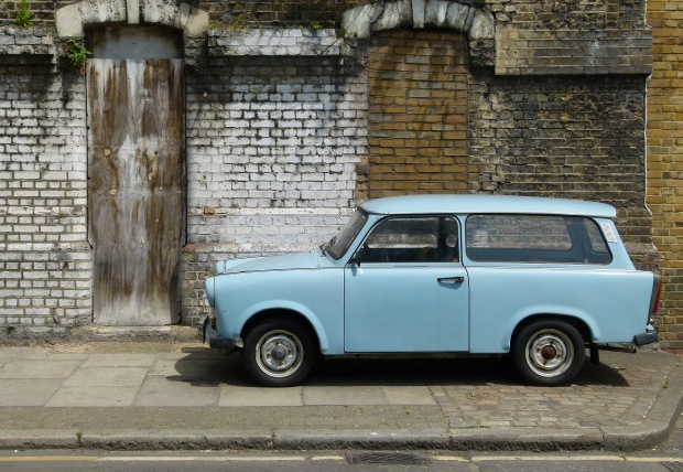 The Cold War comes to Enid Street.... an East German Trabant.