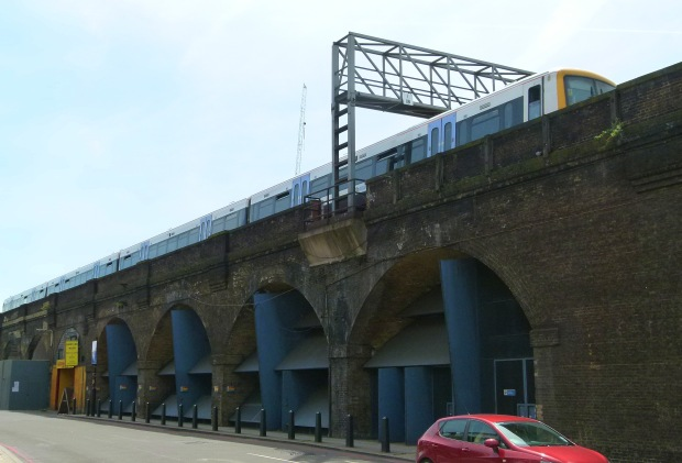 A section of the original London to Greenwich viaduct, Druid Street.