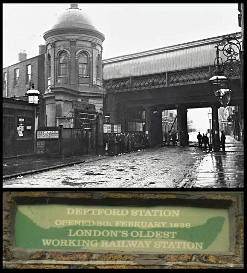 Deptford Station in the 1920s (Image: Old Deptford History).