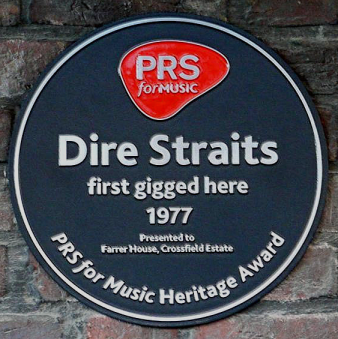Dire Straits Plaque (image: London Remembers).