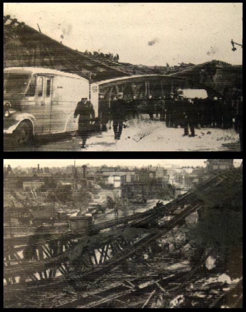 The destruction of John Bull Arch, 1944 (image: John Harvard Library).