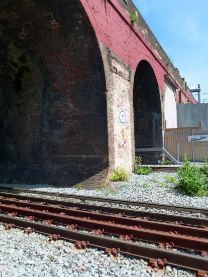 Tracks over tracks... the viaduct crosses the London Overground.