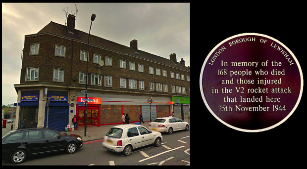 Site of the New Cross V2 catastrophe today (image: Google Streetview).