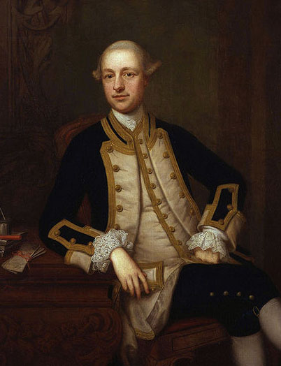 Captain Maurice Suckling; the uncle who introduced young Horatio to the Royal Navy (portrait by Thomas Bardwell).