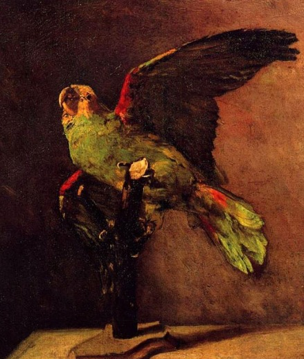 The Green Parrot by Van Gogh, 1886.