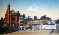Highgate Turnpike at foot of Archway Road (Horney Lane Bridge can be glimpsed in the background).
