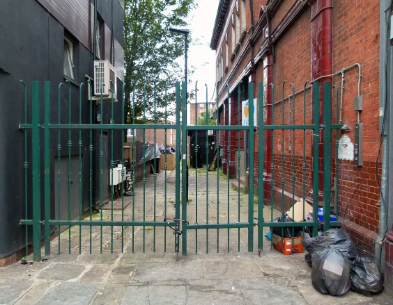 Alley beside South Kentish Town ghost station....
