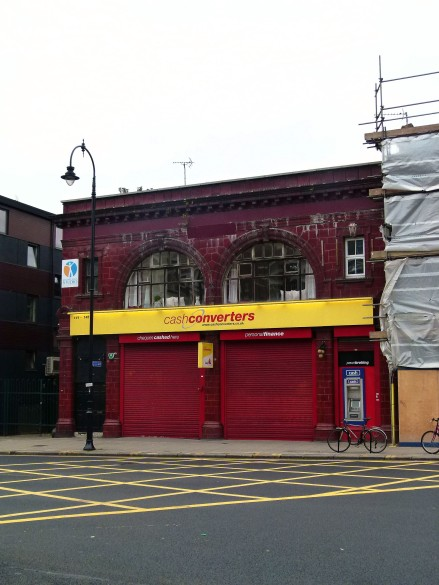 Kentish Town South's former ticket office; now converted into retail space.