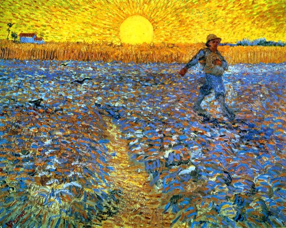Sower with the Setting Son by Van Gogh, 1888.