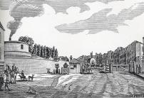 St John Street Turnpike, near Smithfield meat market.