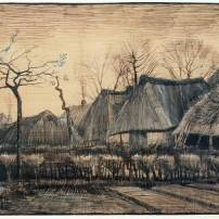 Thatched Roofs 1884 by Vincent van Gogh 1853-1890