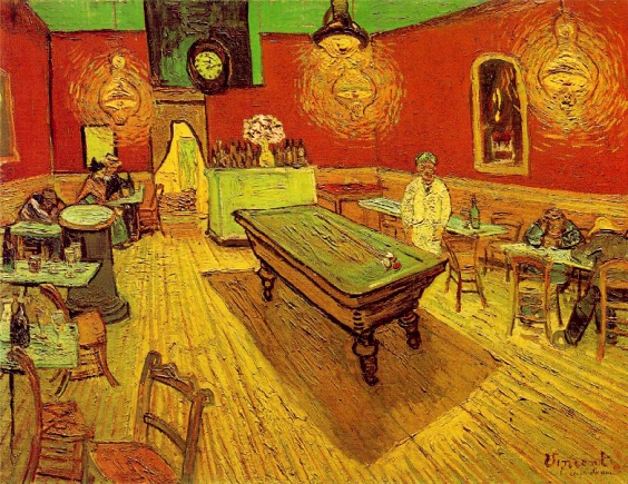 The Night Cafe by Van Gogh, 1888.