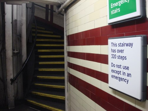Deep level tube stairs... (image: Geograph).