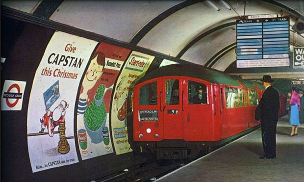 The London Underground in the 1960s.