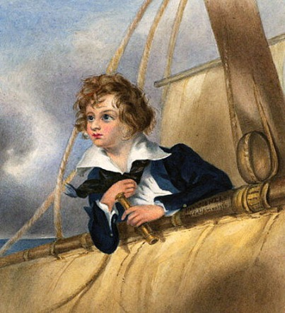 Young Horatio Nelson.