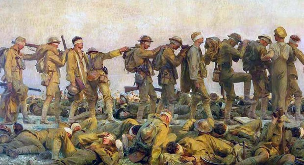 'Gassed' by John Singer Sargent, 1919. This painting is part of the Imperial War Museum's collection.