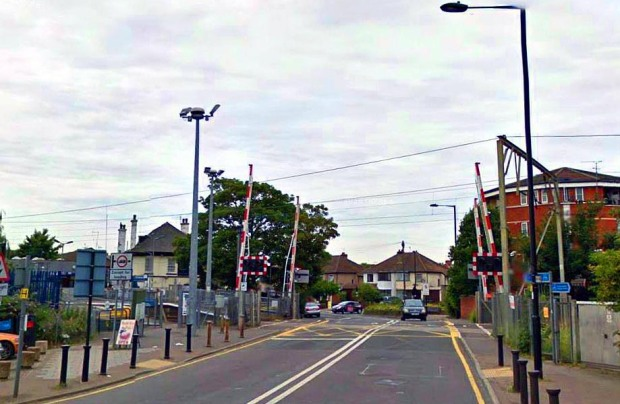 Green Street's railway level crossing (image: Google).