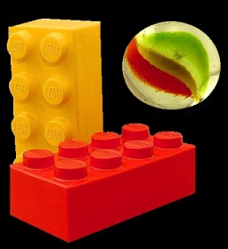 Lego and marble