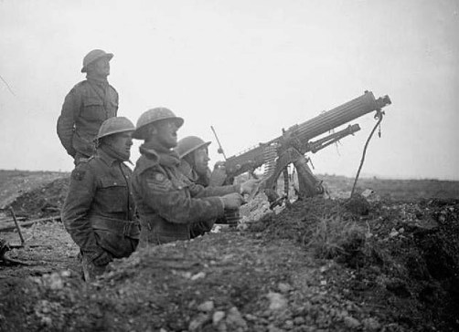 Machine Gun Corps troops at Arras.