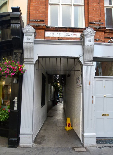 Brydges Place Bedfordbury exit.