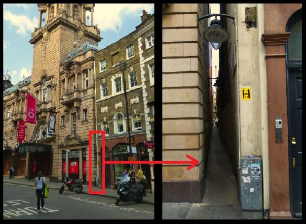 Location of the diminutive  alleyway...