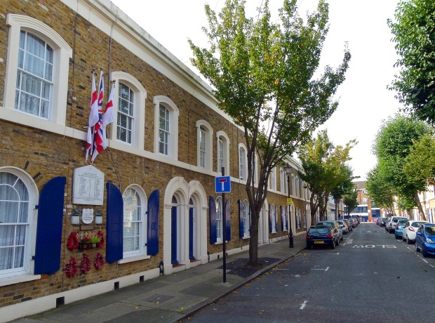 Location of the Cyprus Street memorial as it appears today; about 500 ft from the original location.