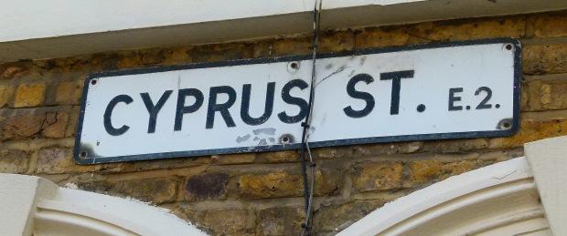 Cyprus Street sign
