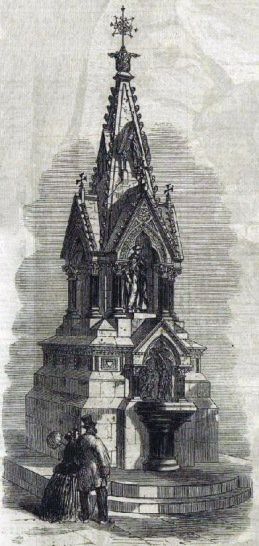The Guildhall Fountain in its original Victorian form.... (image: London Illustrated News).
