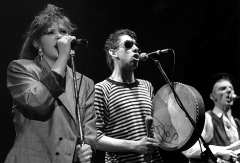 Kirsty MacColl with the Pogues.