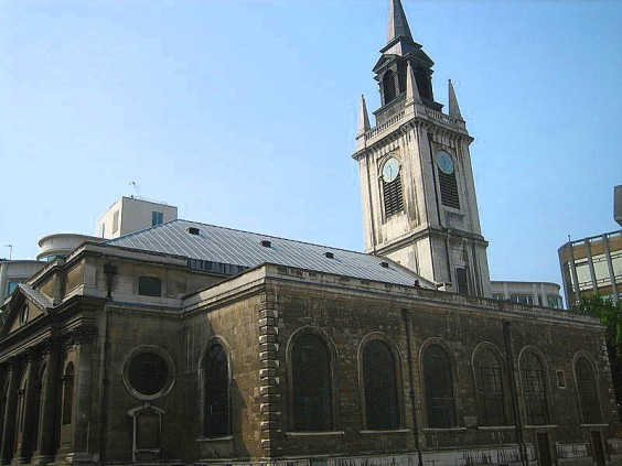 St Lawrence Jewry church today.... fully restored (image: Wikipedia).