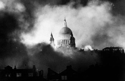 The iconic image of St Paul's Cathedral, photographed on the night of December 29th 1940.