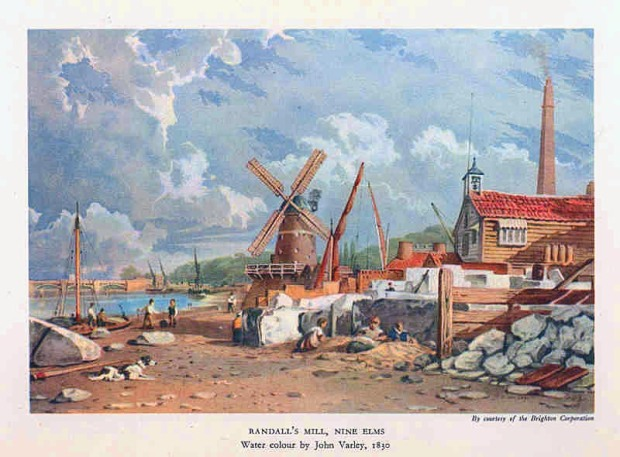 A very rural Nine Elms as it appeared in the 1830s.
