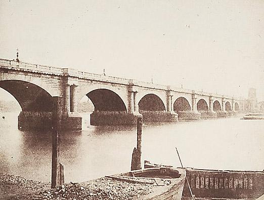 Old Waterloo Bridge pictured in 1846 (image: Metropolitan Museum of Art)