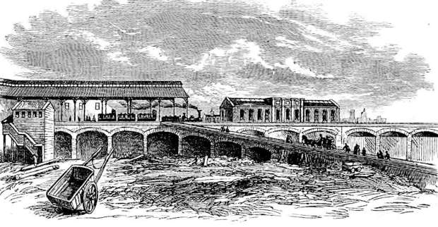 A very early Waterloo Station as pictured in the 1840s (image: London Illustrated News).