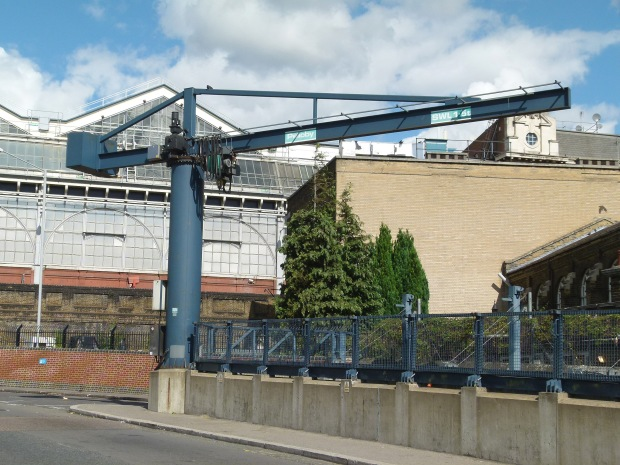 The Waterloo & City Line crane, located near Baylis Road.