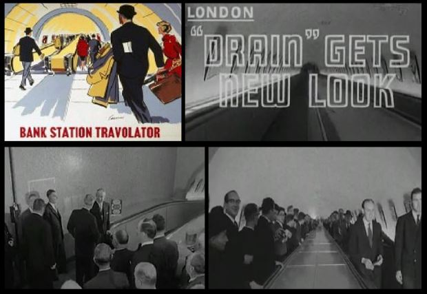 Images depicting the opening of the Travelator in 1960.