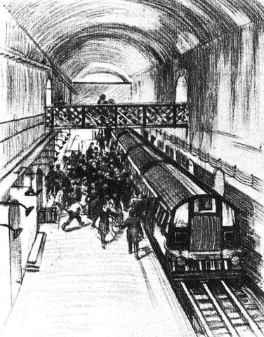 Early view of the Waterloo & City Line.