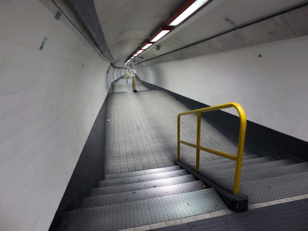 The Waterloo & City pedestrian tunnel today.