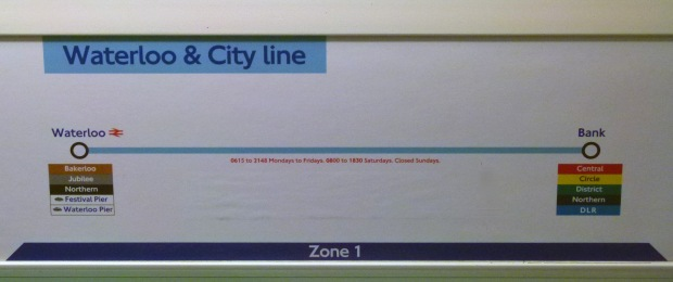 The Waterloo and City Line... London Underground's shortest.
