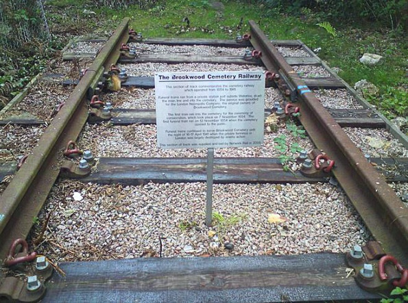 A memorial to the Necropolis Railway erected at Brookwood Cemetery in 2007 (image: Wikipedia)