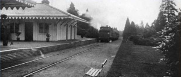 Brookwood North Station (for Nonconformists) pictured in 1907.