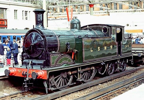 A London South Western tank engine- the type of model used to haul coffin carriages during the Necropolis Railway's final years (image: PL Chadwick via Geograph).