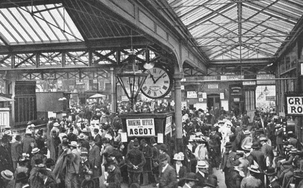 Waterloo station during the Victorian era.