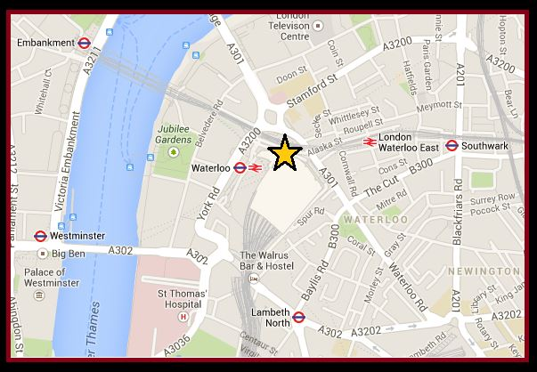 Map waterloo london London Waterloo