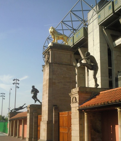 The Southbank Lion's twin at Twickenham Stadium (image: Geograph)