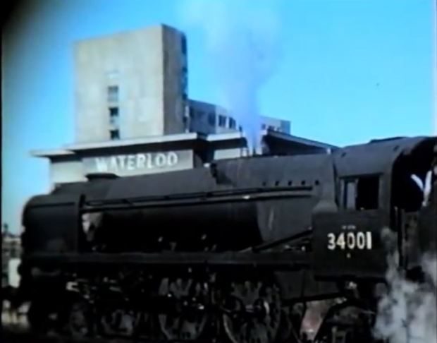 A steam engine at Waterloo, 1967