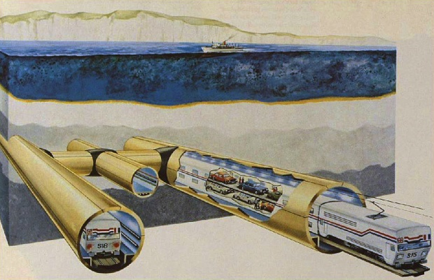 The Channel Tunnel as imagined in 1985 (image: London Illustrated News)